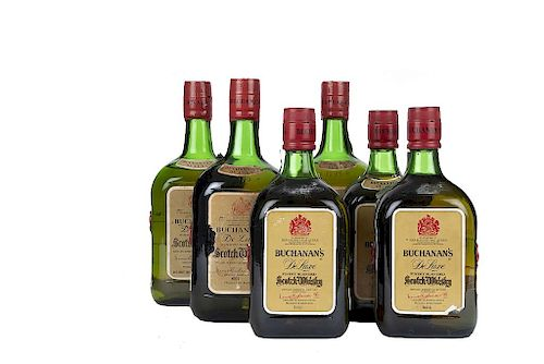 Buchanan's. De Luxe.  Blended. Scotch Whisky. Piezas: 6. De los 60's.