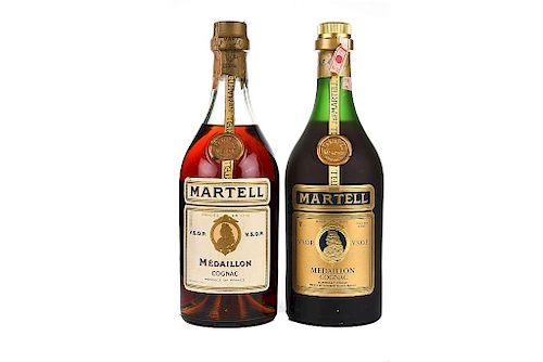 Martell Medaillon. V.S.O.P. Cognac. France. Piezas: 2.