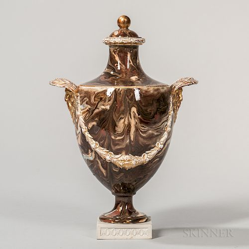 Wedgwood Surface Agate Vase and Cover