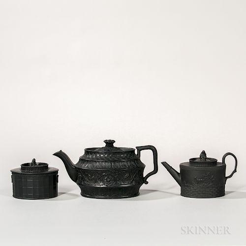 Three Black Basalt Tea Wares