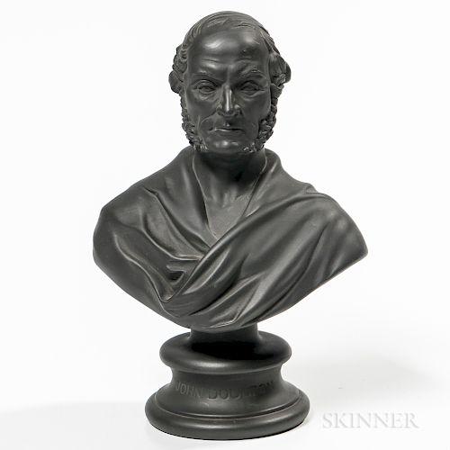 Doulton Black Basalt Bust of John Doulton