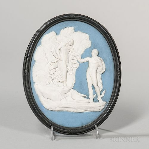 Wedgwood Bert Bentley Tricolor Jasper Plaque