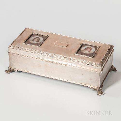Elizabeth II Sterling Silver Jewelry Box