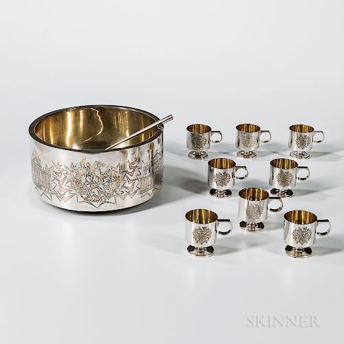 Elizabeth II Sterling Silver Commemorative Punch Set