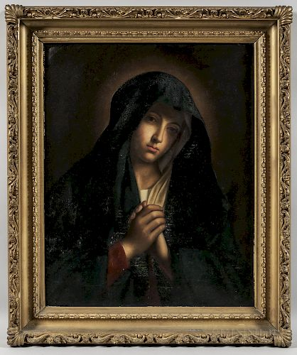 Olga Ciardi (Italian, 19th/20th Century), After Il Sassoferrato (Italian, 1609-1685)  The Madonna in Sorrow