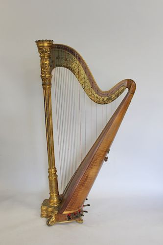 Lyon and Healy Concert Grand Harp.