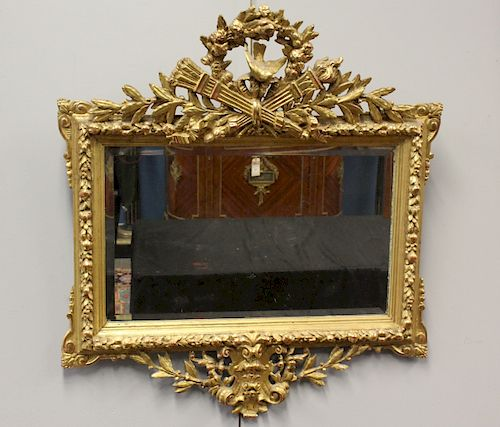 Fine Quality and Highly Carved Giltwood Mirror.