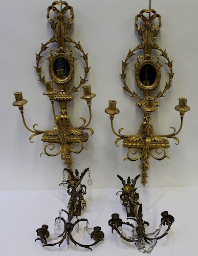 2 Pairs of Antique Sconces to Include