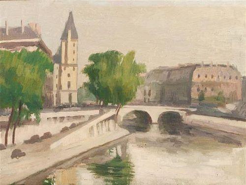* Ernst Neumann, (Canadian, 1907-1956), Pont St. Michael, Paris