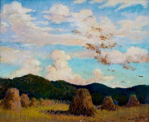 * Gustav Goetsch, (American, 1877-1969), Grain Field, 1943