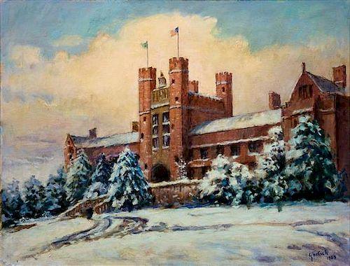 * Gustav Goetsch, (American, 1877-1969), Brookings Hall, Washington University, 1959