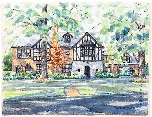 * S. Leguey-Feilleux, (American, 20th century), House in Clayton