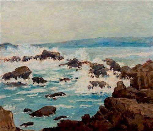 * Gustav Goetsch, (American, 1877-1969), Grey Ocean, 1960