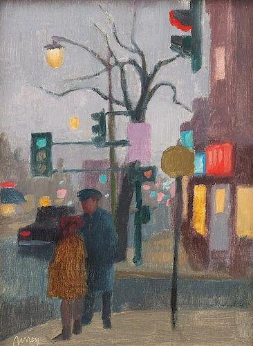 * Philip Surrey, (Canadian, 1910-1990), Street Corner, Montreal