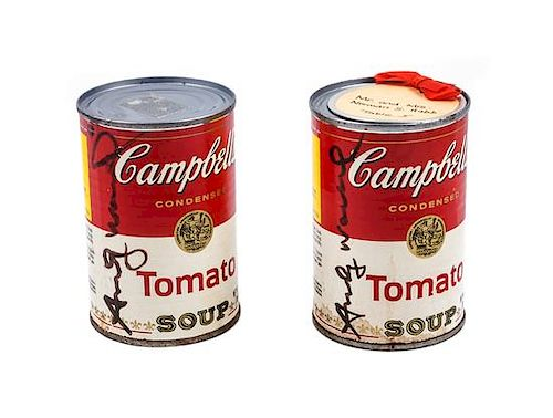 Andy Warhol, (American, 1928-1987), Two Campbell's Soup Cans
