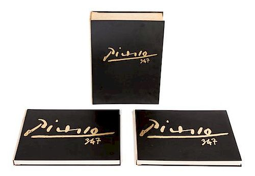 PICASSO, Pablo (1881-1973). 347. New York: Random House, Inc. Height of slipcase 17 3/4 inches.
