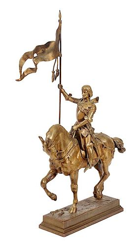 * A Bronze Figural Group Height 34 x width 20 inches.