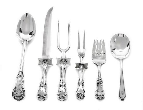 * A Group of American and English Silver Serving Utensils, Whiting Mfg. Co., Reed & Barton, Mary Chawner, London, Towle Silversm