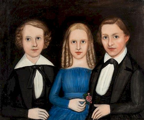 Attributed to William Kennedy, (American, 1817-1871), Two Brothers and a Sister
