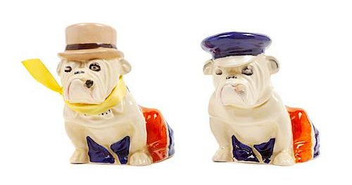 * Two Royal Doulton Bulldogs Height of taller 5 inches.