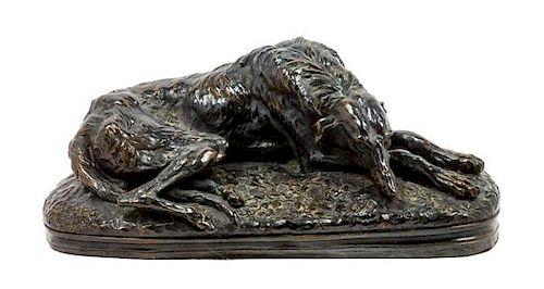 * A Scottish Deerhound Sculpture Width 12 inches.