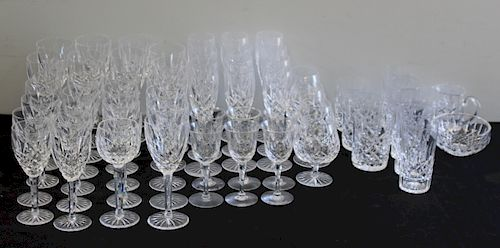 WATERFORD. Lot of Assorted Lismore Stemware