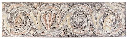 * A Byzantine Marble Mosaic Floor Panel Height 28 3/4 x width 101 1/8 inches.