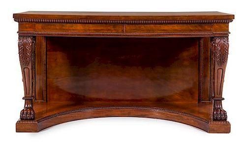 A Regency Mahogany Console Table Height 38 x width 70 x ...