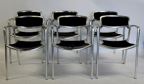 Set of 6 Jorge Pensi Designed Toledo Metal Amat
