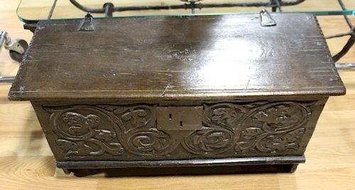 Jacobean Blanket Chest with Interior Label