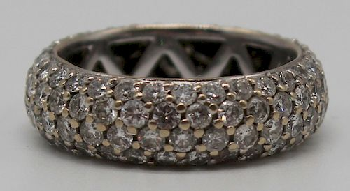 JEWELRY. 18kt Gold and Pave Set Diamond Ring.