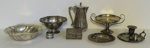 SILVER. Antique English Silver Grouping.
