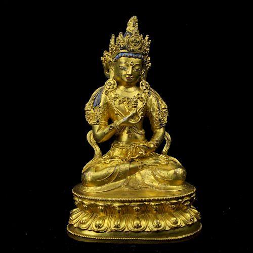 Chinese gilt bronze Buddha.