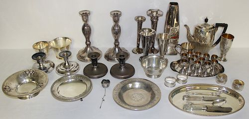 SILVER. Assorted Sterling and Silver Hollow Ware.