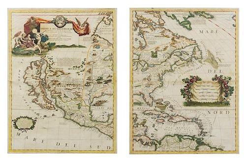 CORONELLI, Vincenzo Maria (1650-1718). America Settentrionale colle nuove scoperte fin all'Anno 1688. Venice, 1688. Engraved map