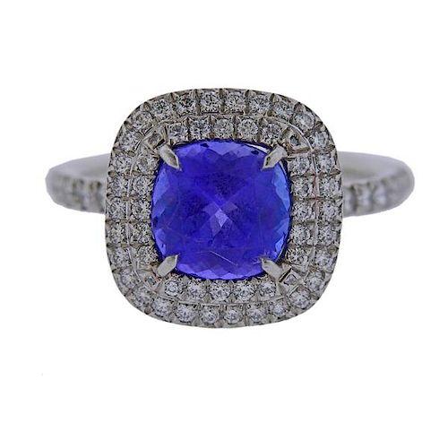 7a0dd5fdf Tiffany & Co Soleste Tanzanite Diamond Platinum Ring by Hampton ...
