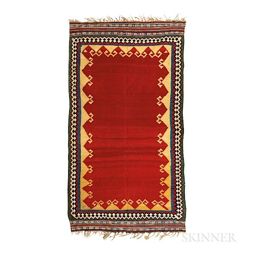 Qashqai Kilim, southwestern Iran, late 19th century, 9 ft. 2 in. x 5 ft.  Provenance:  The Cadle Collection.   Literat...