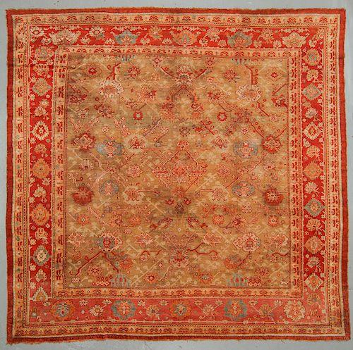Fine Antique Oushak Rug, Turkey: 15'0'' x 14'6''