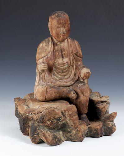 Japanese Jizo Bosatsu Sculpture, 15th c.