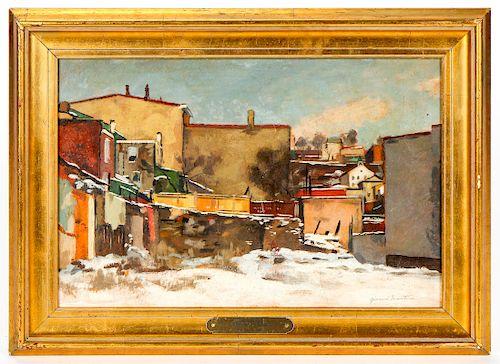 "Giovanni Martino (1908-1997) ""Backyard in Manayunk"", 1978"