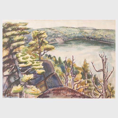 Carl Gordon Cutler (1873-1945): Above Walker Pond