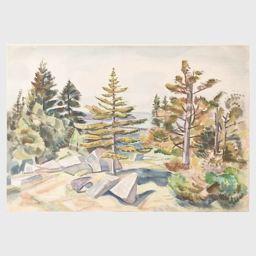 Carl Gordon Cutler (1873-1945): Granite and Evergreens