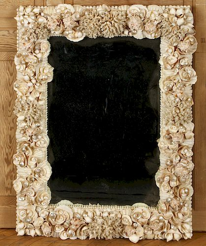 SHELL DECORATED MIRROR
