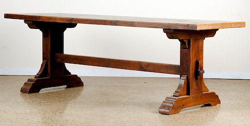 FRENCH OAK LIBRARY TABLE CIRCA 1900