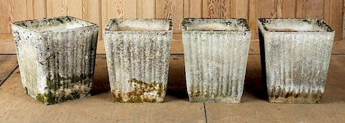 FOUR FRENCH STONE GARDEN PLANTERS C. 1950