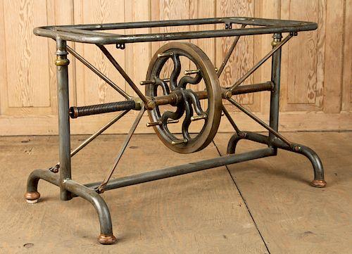 CAST IRON MECHANICAL TABLE BASE CIRCA 1900