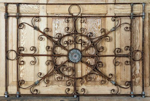 CAST AND WROUGHT IRON AND ZINC BALCONY PANEL