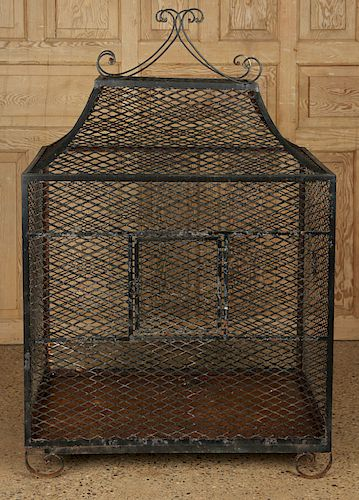 WROUGHT IRON BIRD CAGE REMOVABLE TRAY TO BOTTOM
