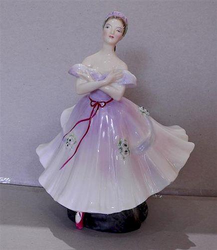 Royal Doulton The Ballerina Corp 1952 Porcelain Figurine