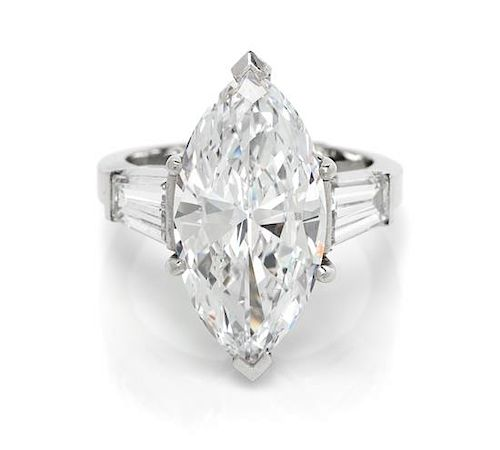A Platinum and Diamond Ring, 6.10 dwts.
